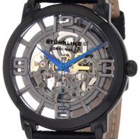 "Stuhrling Original Men's 165B.335569 ""Classic Winchester Grand"" Stainless Steel and Leather Automatic Skeleton Watch"