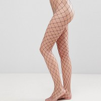 ASOS 2 Pack Oversized Fishnet Tights In Black And Purple at asos.com