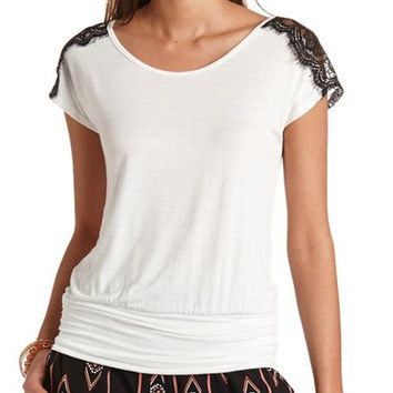 BANDED LACE SHOULDER SHIRT