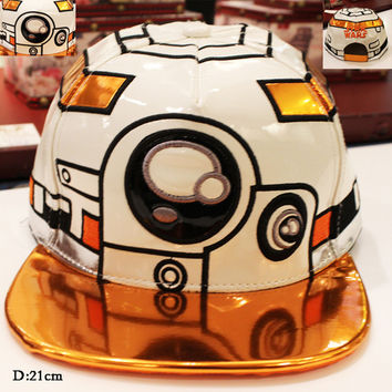 Hot Movie Star Wars Cosplay Cap Black Novelty cartoon The Force Awakens bb 8 mans Hat charms Costume Props Baseball cap