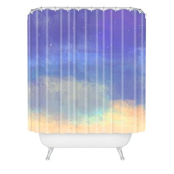 Joy Laforme Bonne Nuit Blue Shower Curtain
