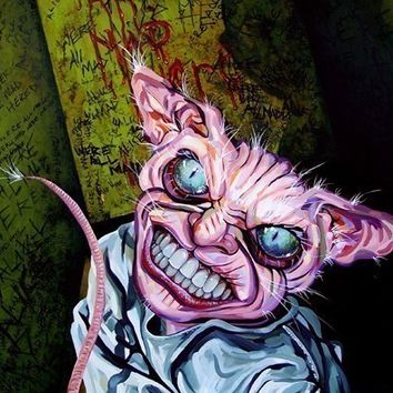 RW2 Signed Limited Edition Print Alice in Wonderland Cheshire cat