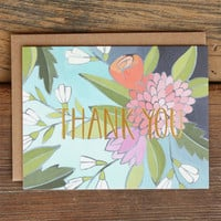 Floral Foil Thank You - Boxed Set
