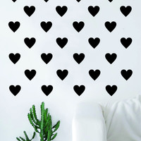 Set of 36 Hearts Design Decal Sticker Wall Vinyl Decor Art Love Pattern Home House Bedroom Heart Cute Nursery