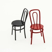 High Quality Kids Dollhouse Miniature Furniture Metal Chair 1:12 Scale Classic Pretend Play Toys Furniture Toys for Children