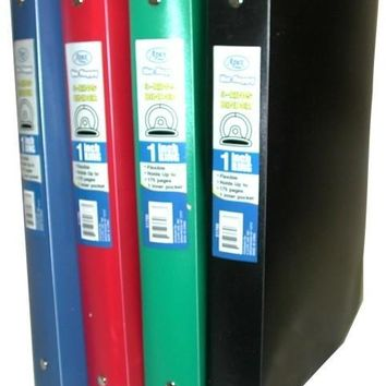 "Flexible Poly Binder - 1"" - Solid Colors - CASE OF 48"