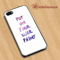 Fall Out Boy Quote Put on Your War Paint  custom case for all phone case