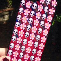 Iphone 6 Phone Case Emoji Skull Floral Print Hipster Phone Cover
