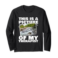 This Is A Picture Of My Therapist River Long Sleeve T-Shirt