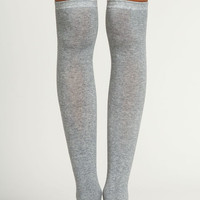 Grey Knee High Socks