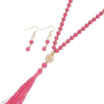 Pinkalicious Tassel Necklace