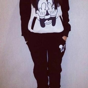 Mickey Mouse tracksuit black and white by Luxury store