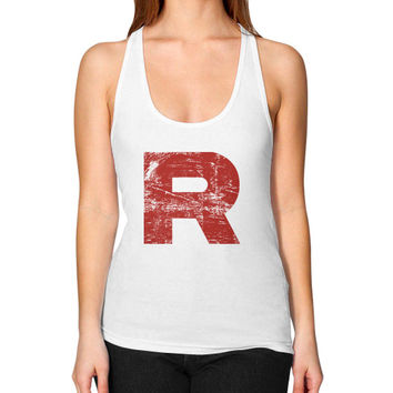 Team Rocket Grunge Women's Racerback Tank
