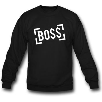 bo$$ boss crewneck sweatshirt