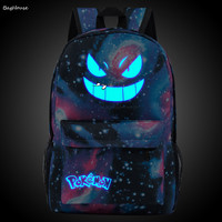 Leisure mochila pokemon youth backpacks Luminous star wars school bag for teenage boys harajuku anime Pikachu Monster backpacks