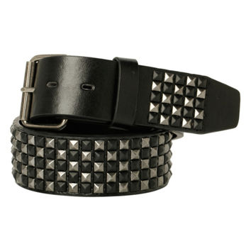 Black Silver Mini Pyramid Stud Belt
