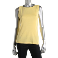 Karen Scott Womens Petites Cotton Knit Tank Top