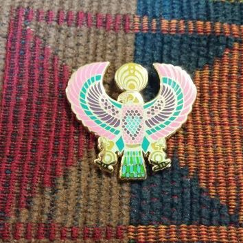 EDM Bass Music Festival Rave DJ Pink Purple Egyptian Falcon Eagle Lapel Hat Pin