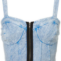 Denim Zip Bralet - New In This Week  - New In