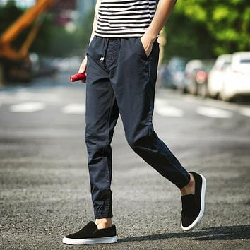 Men Casual Pants Male Japanese Harlan Loose Feet Upon The Black Spring Tide