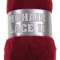 Filati Europa Mohair Lace II Yarn Lot 4 Skeins 16-2 480yds Cranberry Red Wool