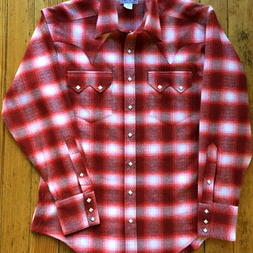 Men's Plush Flannel Plaid Western Shirt