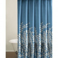 City Scene Branches Shower Curtain in Blue - 174095 - Shower Curtains - Shower Curtains & Accessories - Bed & Bath