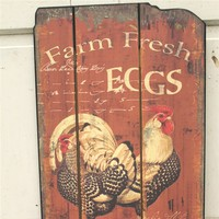 Rustic Farmhouse Fresh Eggs Wall Decor
