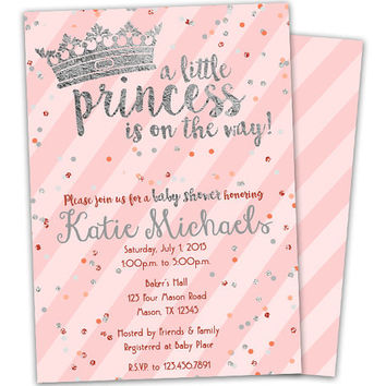 Shop Baby Girl Princess Shower Invitations on Wanelo