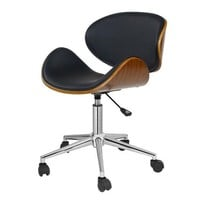 Black Mid-Century Modern Classic Mid-Back Office Chair