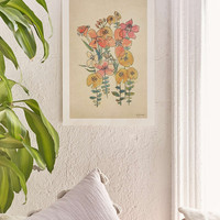 Luna Reef Sketched Flower Art Print - Urban Outfitters