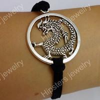 Main Ring Long leather bracelet, fashion charm bracelet, best choice for gift of friendship.