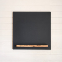 Hanging Chalkboard with Tray, 20 X 20 Modern Square, Custom Sizes Available