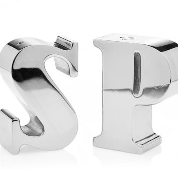 Letters S&P Salt/Pepper Shaker