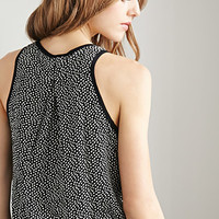 Dotted Kick-Pleat Tank