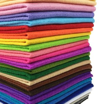 28pcs 12 x 8 inches (30cmx20cm) 1.4mm Thick Soft Felt Fabric Sheet Assorted Color Felt Pack DIY Craft Sewing Squares Nonwoven Pa