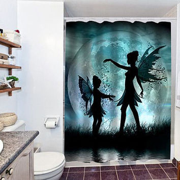 MOON FAIRIES special custom shower curtain