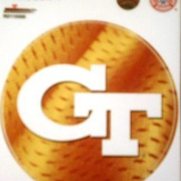 "Georgia Tech Yellow Jackets 4"" Round Decal Bumper Sticker Football University of"
