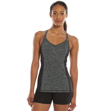 Tek Gear DRY TEK Strappy Racerback V-Neck Workout Tank - Women's, Size: