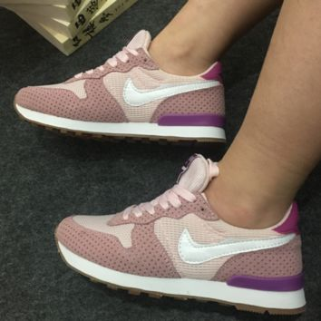 Fashion Casual shoes breathable sports shoes women running non - slip pink(3 color)