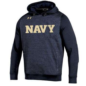 Navy Midshipmen Under Armour Win It Charged Cotton Storm Hoodie - Navy Blue