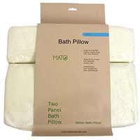 "Mato Luxury Soft Extra Large Spa Bath Pillow for Bathtub, Hot Tub, Jacuzzi with Heavy Duty Suction Cup 16"" x 12.5"""