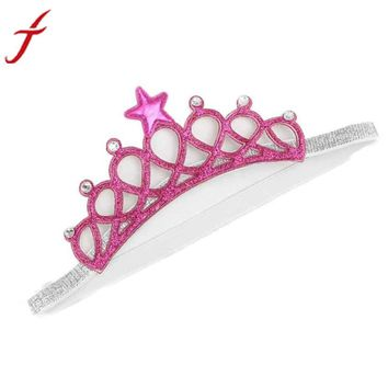 Fashion Girl Head Accessories 2017 Hairband  Hair Band Elastic Flower Crown Headwear Hot Pink Blue  Hair Band #LWN