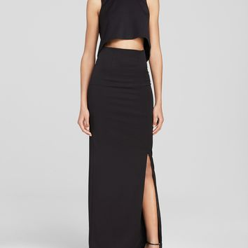 Black Halo Maxi Dress - Kacie Two-Piece