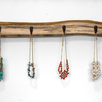 Driftwood Home Decor - Driftwood Wall Hanging - Coastal Decor - Jewelry Necklace Holder - Entryway Key Hooks - Beach Decor - Reclaimed Wood