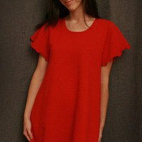 Cherry SS Short Gown Dot Collection | Simple Pleasures, Inc.