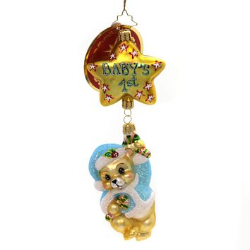Christopher Radko First Things First Glass Ornament