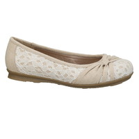 Talia lace and canvas flat