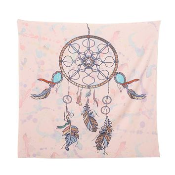 Square Indian/Bohemian Hippie Tapestry (Blue)