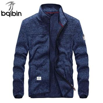 Trendy 2018 Spring New Casual Jacket Youth Fashion Men's Pure Color Cotton Slim Long-sleeved Jacket Top Comfortable Men Coat 4XL AT_94_13